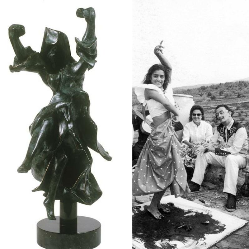 Salvador DALI - Sculpture-Volume - Carmen Castanets (Prestige Scale)