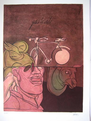 Valerio ADAMI - Print-Multiple - LITHOGRAPHIE SIGNÉE CRAYON NUM/75 HANDSIGNED LITHOGRAPH