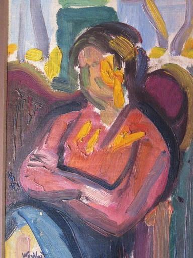 Marius WOULFART - Painting - Portrait fauve