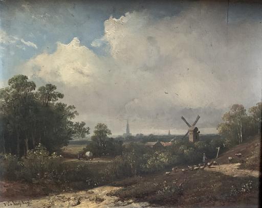 Johannes Pieter VAN WISSELINGH - Peinture - Landschaft