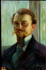 """Georges C. MICHELET - Drawing-Watercolor - """"PORTRAIT DE MONSIEUR CHABANCE"""""""