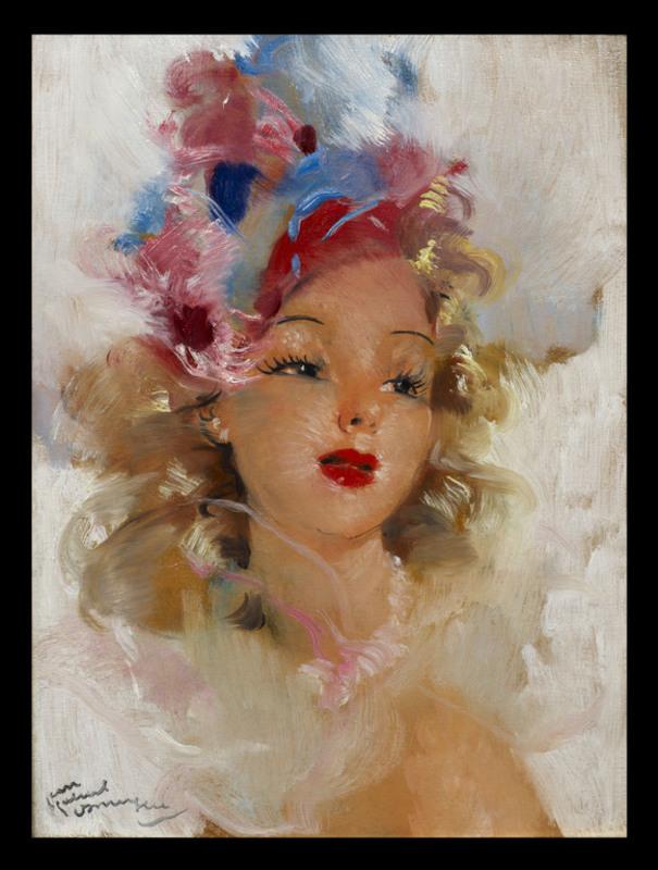 Jean Gabriel DOMERGUE - Painting - Ludmilla