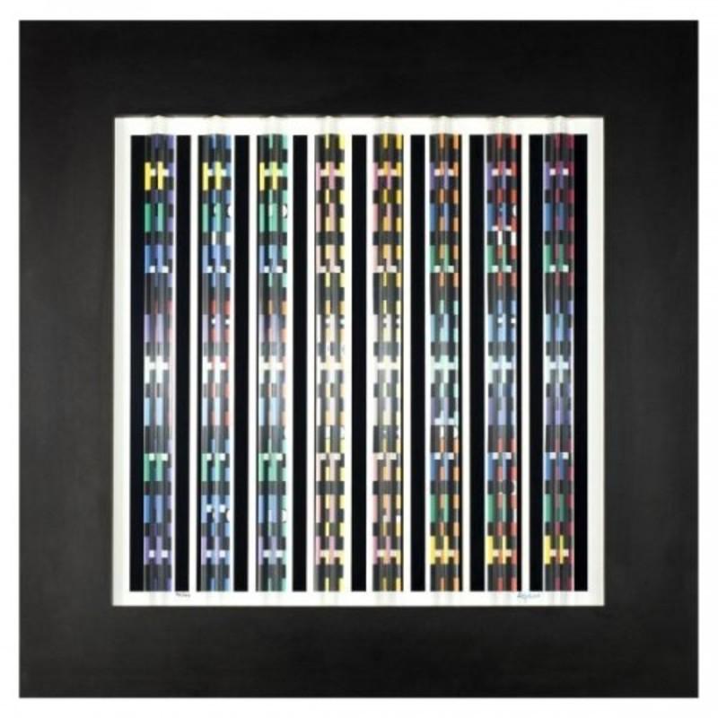 Yaacov AGAM - Print-Multiple - Night-Lights Prismagraph