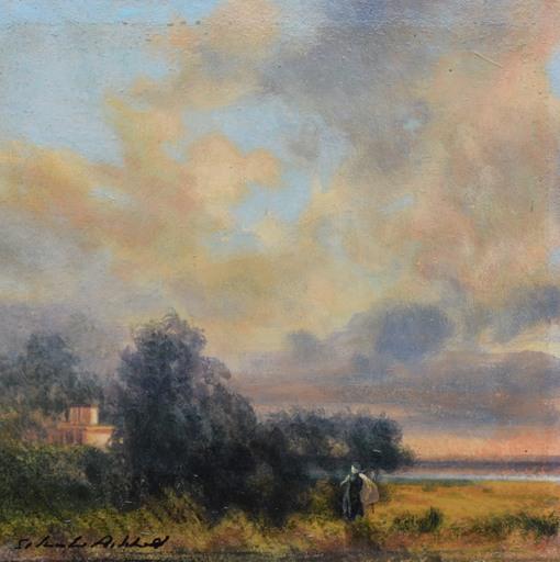 Silvestro PISTOLESI - Painting - Fra cielo e terra