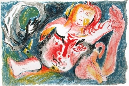 Édouard PIGNON - Print-Multiple - Homme à l'enfant
