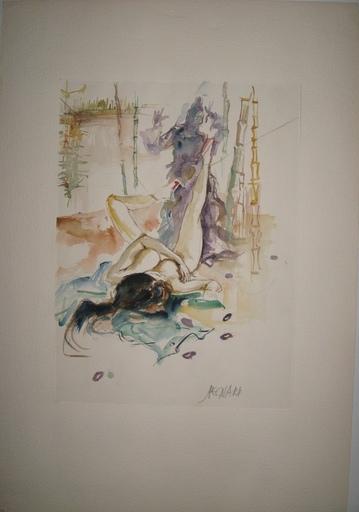 Jacques PECNARD - Dessin-Aquarelle - FEMME NUE