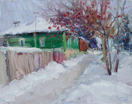 Yuriy DEMIYANOV - Gemälde - Cendres de Montagne en Hiver