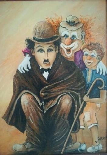 Jean-Claude LELIEVRE - Peinture - mon ami charlot
