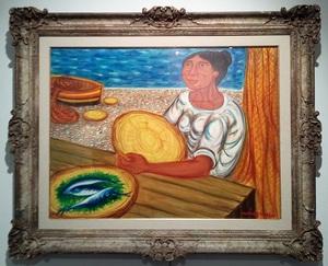 Giuseppe MIGNECO - Painting - Pescivendola