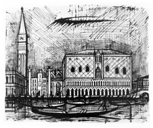 Bernard BUFFET - Print-Multiple - Le campanile et le palais des Doges