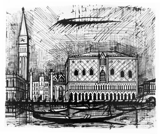 Bernard BUFFET - Druckgrafik-Multiple - Le campanile et le palais des Doges