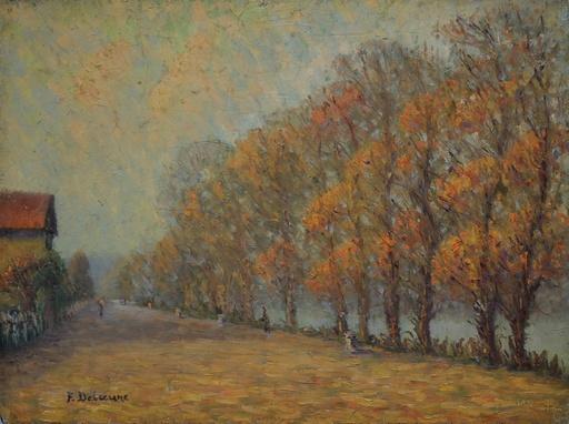 Edouard DELAUNE - 绘画 - Bord de l'Oise (?)