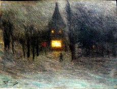 Pavel Varfolomeevich KUZNETSOV - Painting -   Winter night