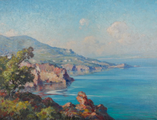 Marius HUBERT-ROBERT - 绘画 - Cote d'Azur
