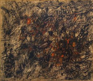 Georges NOEL - Gemälde - Composition, 1958