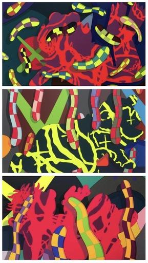 KAWS - Grabado - Set of 3 serigraphs