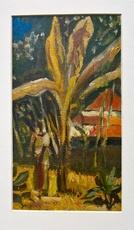 Floris JESPERS - Painting - african woman under bananatree