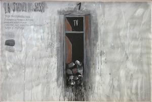 Fabrizio PLESSI - Painting - La stanza dei sassi n. 5
