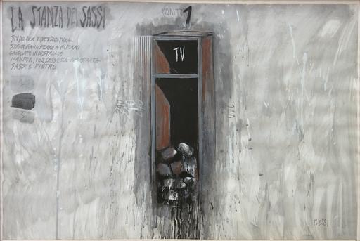Fabrizio PLESSI - Pintura - La stanza dei sassi n. 5