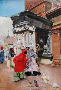 Lucius ROSSI - Painting - Karneval Szene