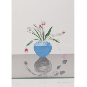 David HOCKNEY, Pretty Tulips