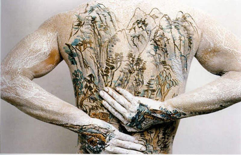 HUANG Yan - Fotografia - Chinese shan-shui tattoo 2 ( second set