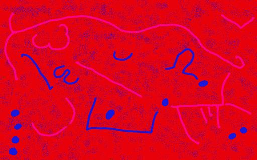 Harry BARTLETT FENNEY - Audiovisual-Multimedia - hillside chalk carvings (digi drawing1998)