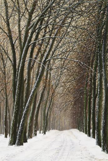 Valerij CHKARUBO - Peinture - Calme hivernal