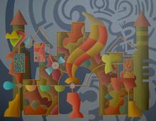 Enrique Rodriguez GUZPENA - Painting - Clamor de palomas