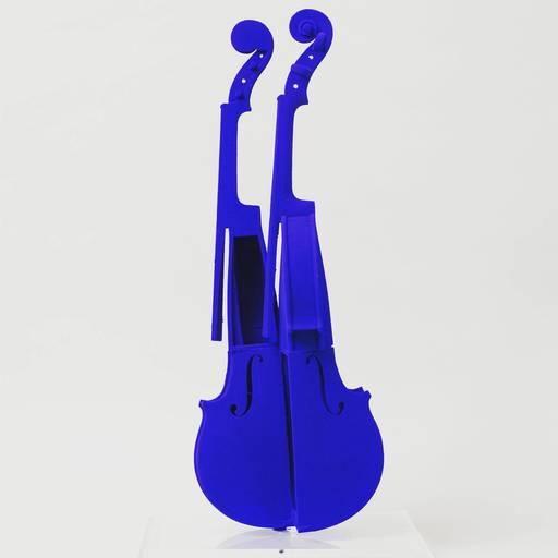 Fernandez ARMAN - Sculpture-Volume - Hommage à Yves Klein (Homage to Yves Klein)