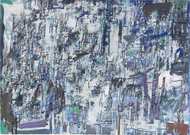 Maria Elena VIEIRA DA SILVA - Pintura - Composition 1967