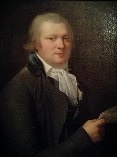 Antoine ANSIAUX - 绘画 - Portrait d'homme