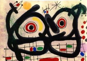 Joan MIRO - Print-Multiple - *M. 515, Les Lizards de Plumes D'