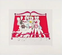 Louise BOURGEOIS - Grabado - Eight in bed