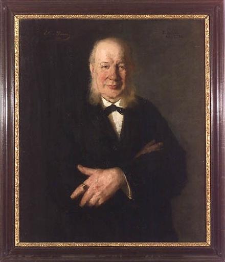 "Elisa RANSONNET - Peinture - ""Portrait of Painter Friedrich Schilcher"", Oil on Canvas"