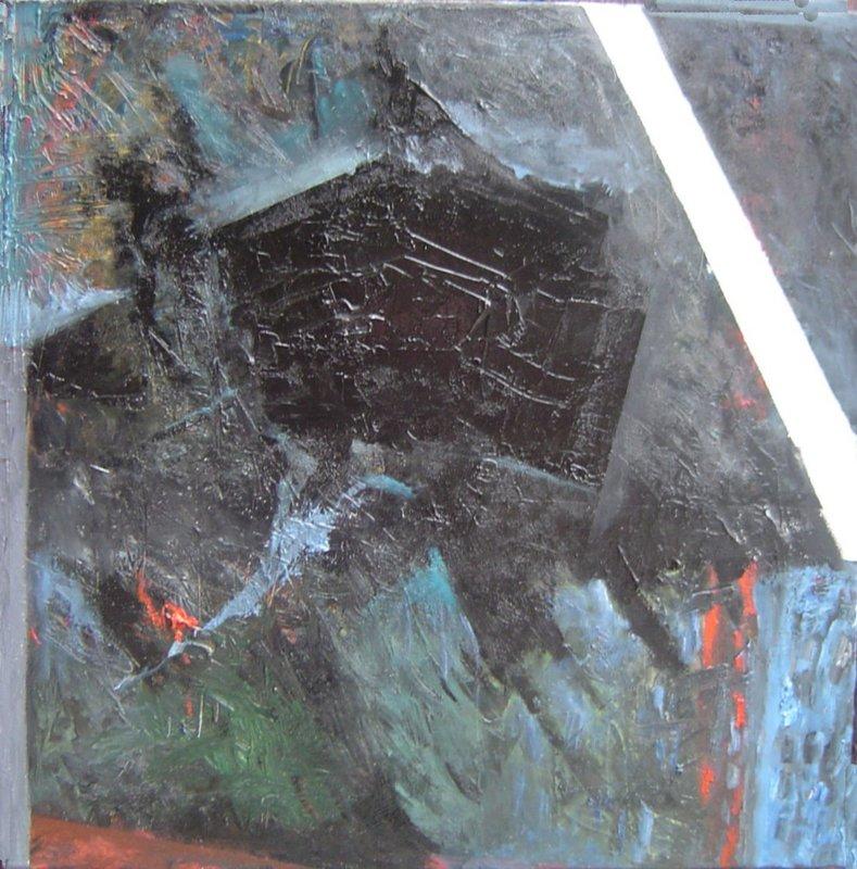 Robert LABOR - Peinture - 4 tableaux a vendre  de ma serie Volcans