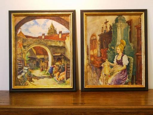 Franz KIENMAYER - Pintura - Dürnsteiner Genre