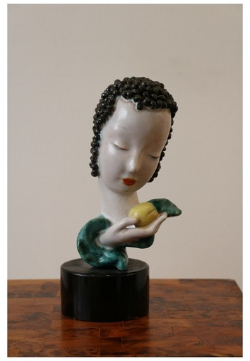 GOLDSCHEIDER FACTORY - Ceramic - Tête de femme