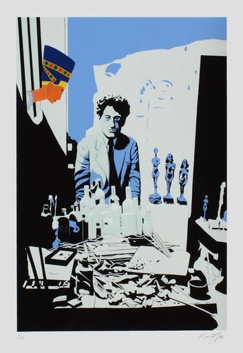 Bernard RANCILLAC - 版画 - Chez Giacometti