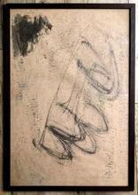Jean FAUTRIER - Dibujo Acuarela - Composition