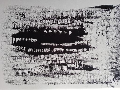 "Galina VINDALOVSKAIA - Drawing-Watercolor - ""Art value Artist prices"" Abstract Drawing Black White"