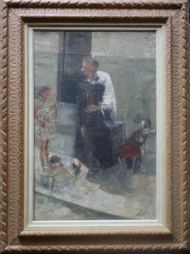 Jean-Claude CHESNAY - Painting - L'accordéoniste des rues