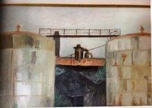 Robert LABOR - Painting - Cuves à mélasses Pierrefonds