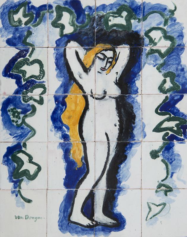 Kees VAN DONGEN - Ceramic - Femme nue au lierre