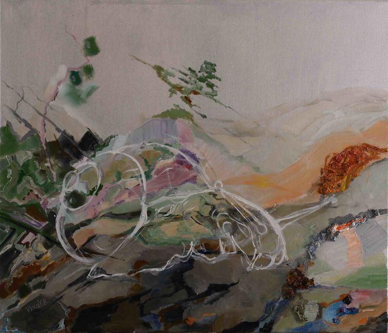 Violetta MALATERRE - Gemälde - Le Fantôme de l'escargot