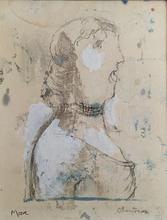 亨利•摩尔 - 水彩作品 - Chanteuse