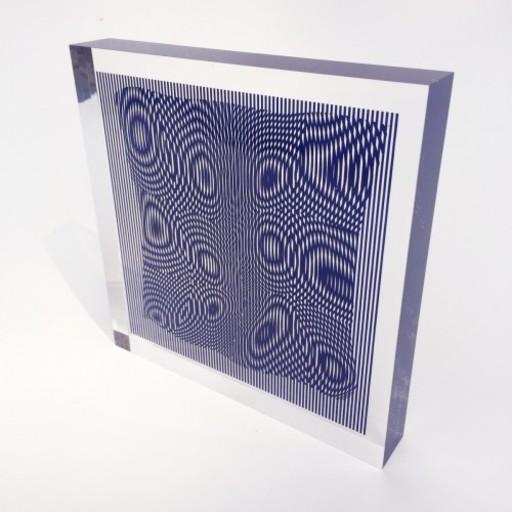 Alberto BIASI - Grabado - Gocce in Blue