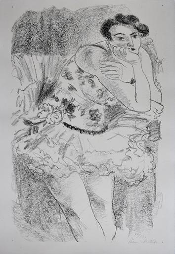 Henri MATISSE - Stampa-Multiplo - Standing Dancer, Leaning, from: Ten Dancers
