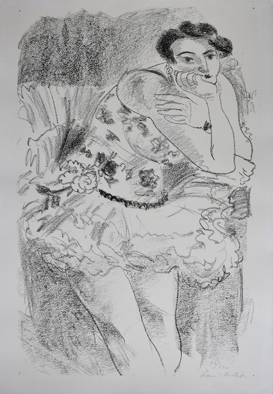 Henri MATISSE - Print-Multiple - Standing Dancer, Leaning, from: Ten Dancers