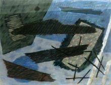 Henri GOETZ - Disegno Acquarello - Abstract composition